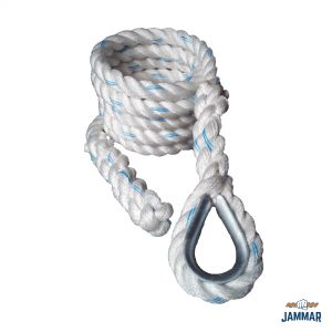 Metal Thimble Climbing Ropes | White Poly Dacron