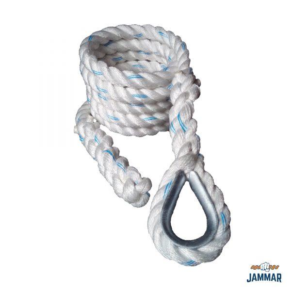 Metal Thimble Climbing Ropes | White Poly Dacron