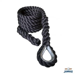 Metal Thimble Climbing Ropes | Black Poly Dacron