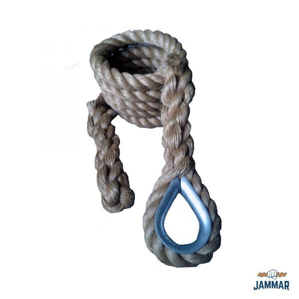 Metal Thimble Climbing Ropes | Natural Manila