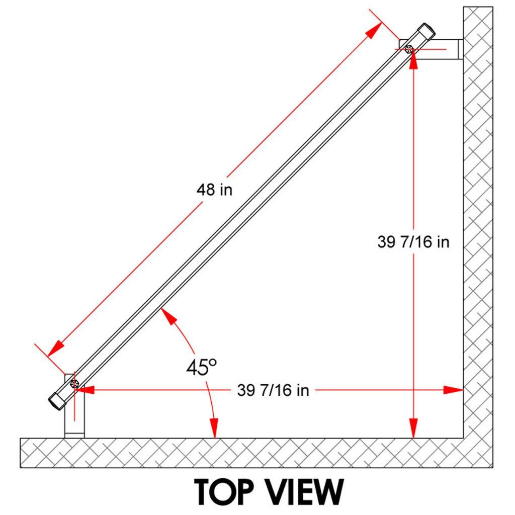 Corner Mounted Hanging Bar | CHB Series
