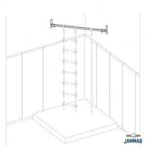 Corner Mounted Hanging Bar | CHB Series