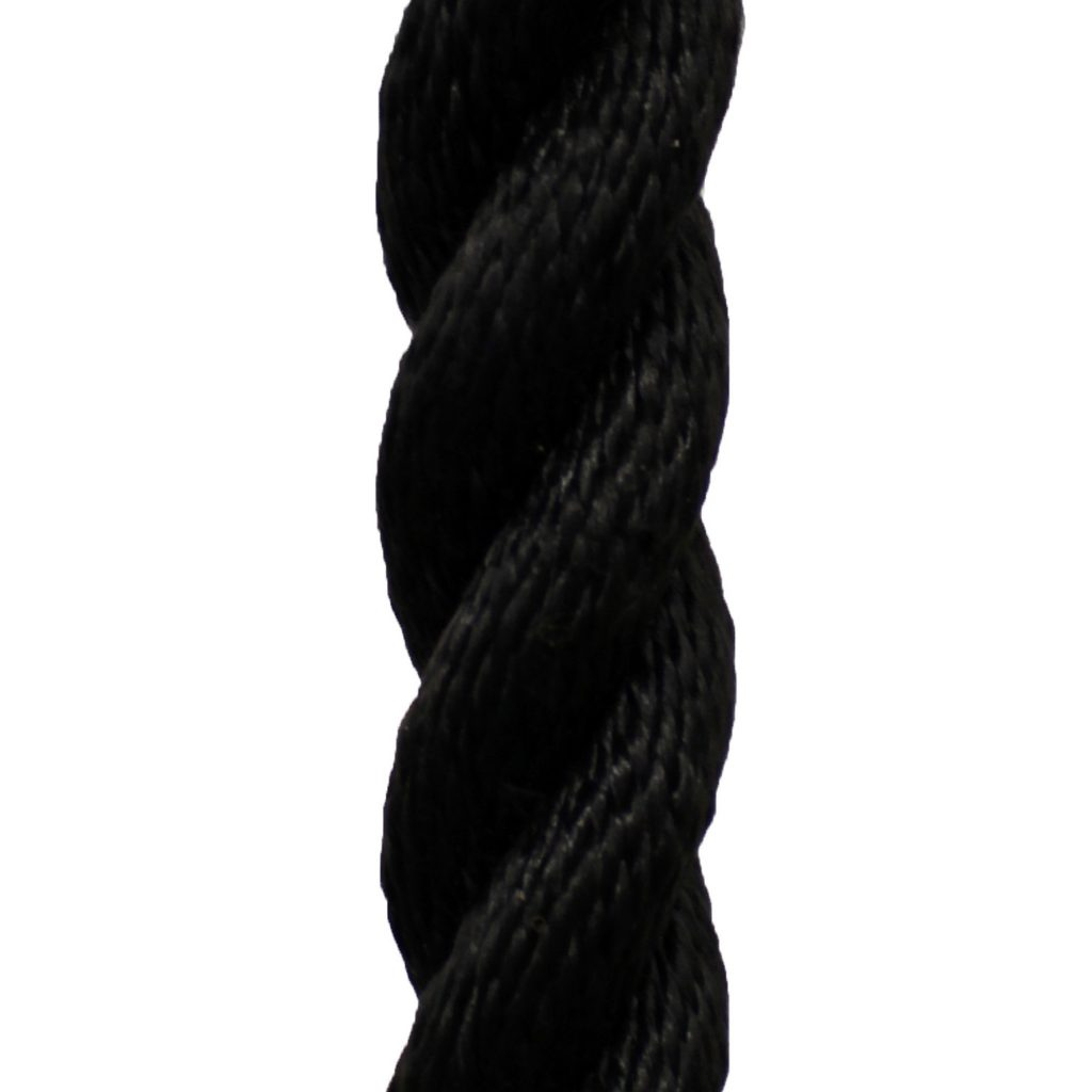 Black Poly Dacron Rope