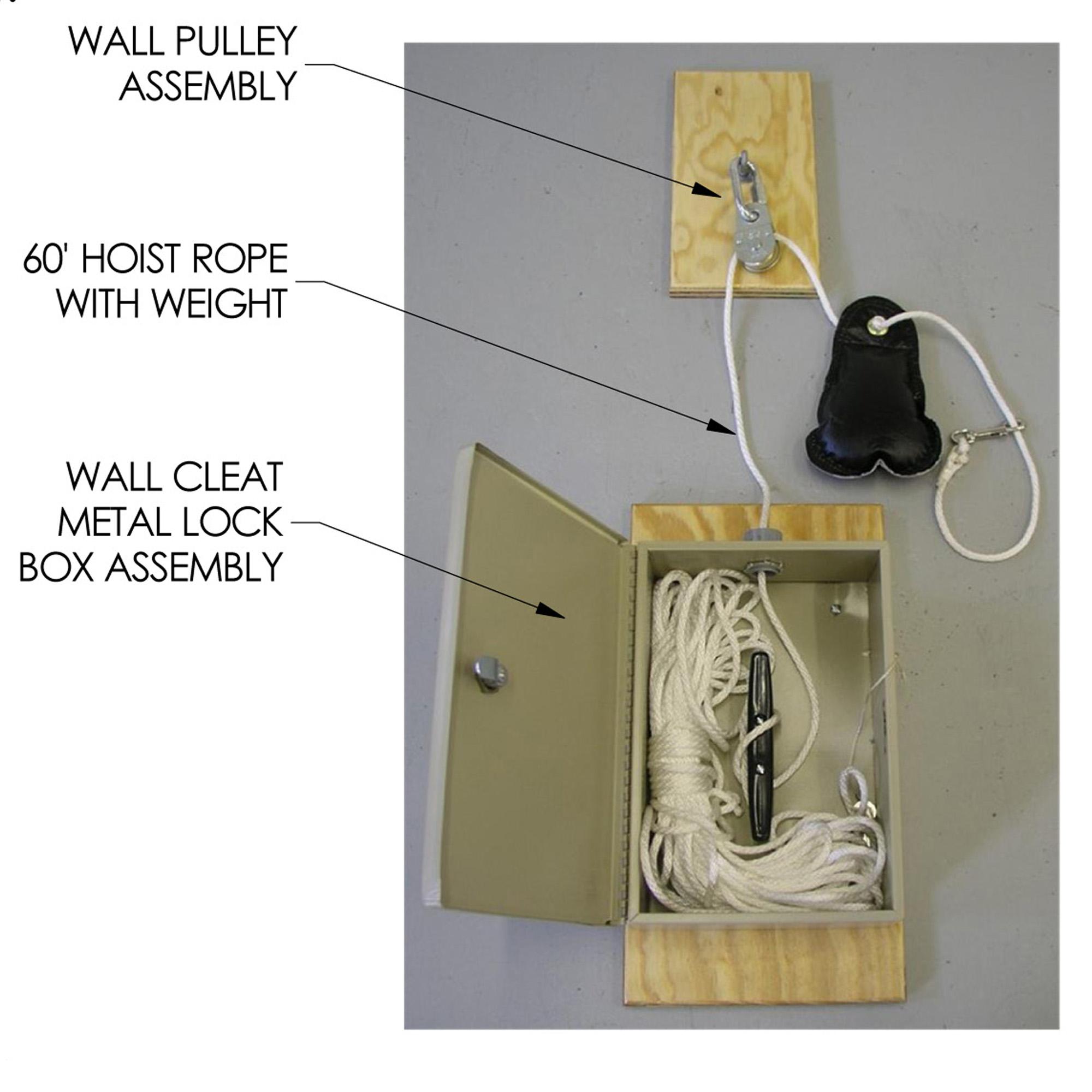 Metal Lock Box Rope Net Hoist | MLBH-1